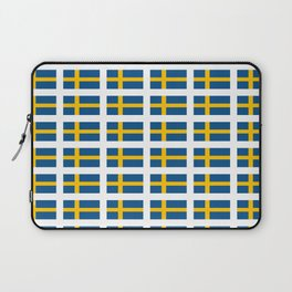 flag of sweden -  Swedish,Sverige,Swede,Stockholm,Scandinavia,viking,bergman, strindberg Laptop Sleeve