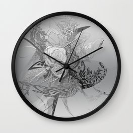 50 Shades of lace Silver Silver Wall Clock