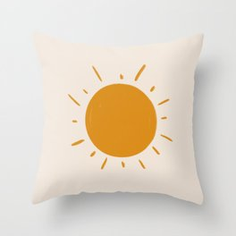 painted sun Throw Pillow