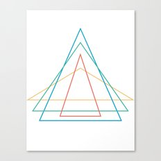 4 triangles Canvas Print