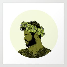 Green Crown Art Print