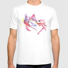 Galactic Blush MEDIUM Mens Fitted Tee White