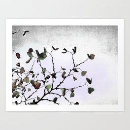 abstract cold leaves Art Print