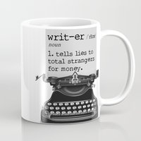 writer Mugs featuring Writer Defined by Nicole Austin