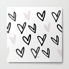Lovely Hearts - Valentine's pattern Metal Print