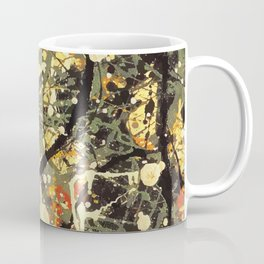 Jackson Pollock, digitally vectorised and filtered, fine art decor and clothing Coffee Mug