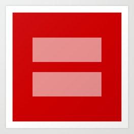 Equal Rights Art Print