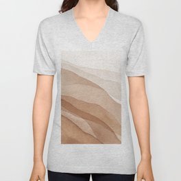 Mountains and hills Unisex V-Neck