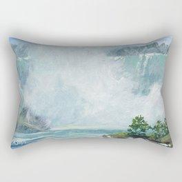 Crystal Mist — Niagara Falls Rectangular Pillow