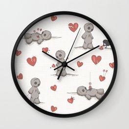 Broken hearted Voodoo Dolls Wall Clock
