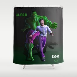 Bruce's Alter Ego Shower Curtain