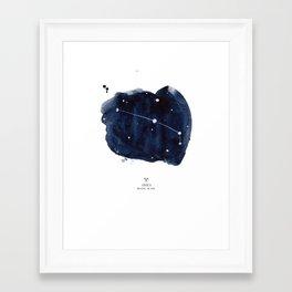 Zodiac Star Constellation - Aries Framed Art Print