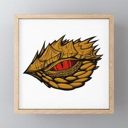 Golden dragon eye design  Framed Mini Art Print