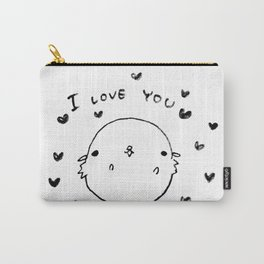 I love you by a Hamster Carry-All Pouch