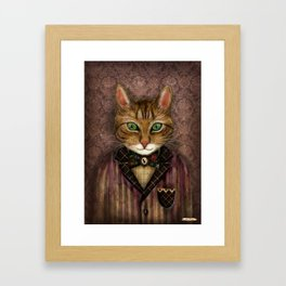 Sir Harold And His Mouse Betty Framed Art Print