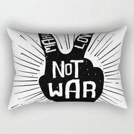 Peace make love not war Rectangular Pillow