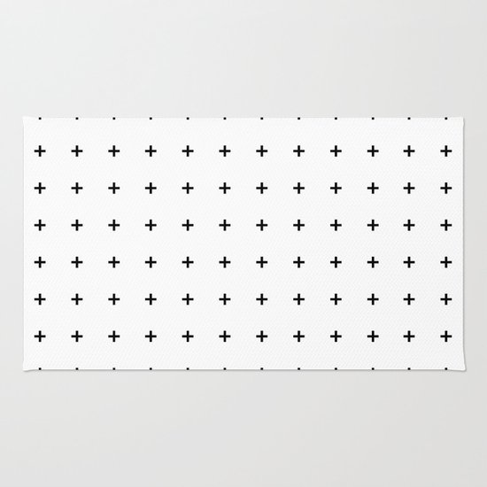 Black Plus on White /// www.pencilmeinstationery.com Rug