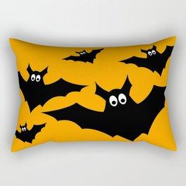 Cool cute Black Flying bats Halloween Rectangular Pillow