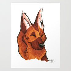 Brush Breeds-German Shepherd Art Print