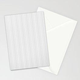 Pastel gray white vintage stylish geometrical stripes Stationery Cards