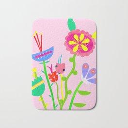 Paper Collage Blooms Bath Mat
