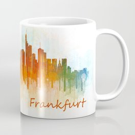Frankfurt am Main, City Cityscape Skyline watercolor art v3 Coffee Mug