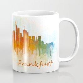 Frankfurt am Main, City Cityscape Skyline watercolor art v3 Coffee Mug