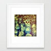 skulls Framed Art Prints featuring skulls by Bunny Noir