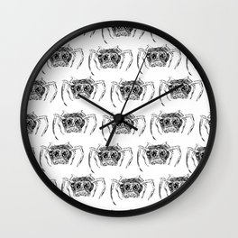 A Creepy Spider Creature Pattern for Halloween! Wall Clock
