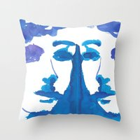 mirror Throw Pillows featuring mirror by Zsofi Porkolab