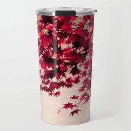 Red Fall Leaves Travel Mug