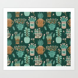 You can never have too many house plants Art Print
