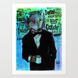 The Wolfe Art Print
