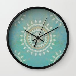 Turquoise  Mandala #society6 #buyart #decor Wall Clock