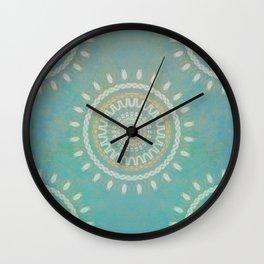 Turquoise  Mandala #society6 #buyart #decor Wall Clock