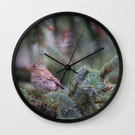 Backyard Visitor ~ I Wall Clock