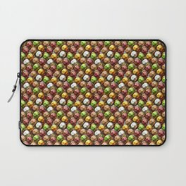 Metallic Beads Pattern Laptop Sleeve