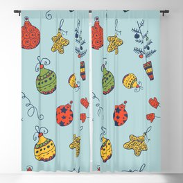 Christmas Toys Pattern Blackout Curtain