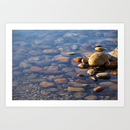 Pebble Stones by the Sea 7738 Art Print