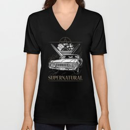 Supernatural Impala Black Unisex V-Neck