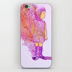 Flame doodle iPhone & iPod Skin