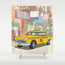 NEW YORK CAB Shower Curtain