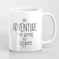 "winnie the pooh Mugs featuring Winnie the Pooh quote  ""ADVENTURE""  by SimpleSerene"