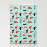 bugs Stationery Cards featuring Bugs by JenHoney