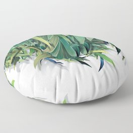 """Spring Forest of Surreal Leaf"" Floor Pillow"