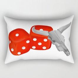 Cow Skull Snake Eyes Rectangular Pillow