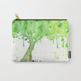 Watercolor Spring Tree Abstract Paint Splatter Carry-All Pouch