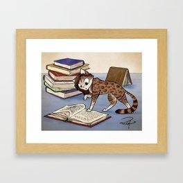 Caticature - Aiden Framed Art Print