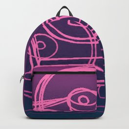 Purple Record Player Backpack