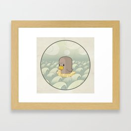 Chick Across the Sea Framed Art Print